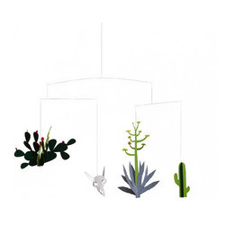 Desert Cactus Mobile by MiMo Project - Delicate and beautiful, this mobile would delight any child for years and years. I could easily see it hanging in my living room as well!