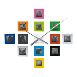 RR - Do-It-Yourself Photo Frame Wall Clock in Multi - Do-It-Yourself Photo Frame Wall Clock in Multi