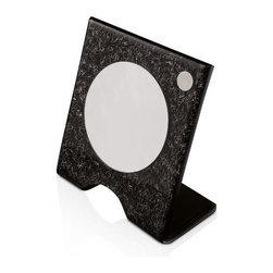 Toscanaluce - Free Standing Black and Silver Plexiglass Magnifying Mirror - Complete your decorative master bathroom with this luxurious makeup mirror from Toscanaluce.
