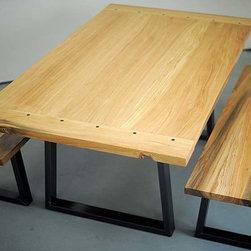 Kitchen Table and Benches - Baldwin Custom Woodworking