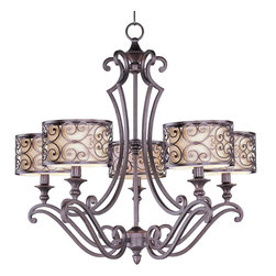 Maxim Lighting - Maxim Lighting 21155WHUB Mondrian Umber Bronze 5 Light Chandelier - 5 Bulbs, Bulb Type: 60 Watt Incandescent