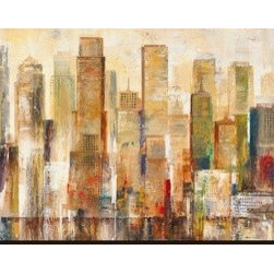 Artcom - City Limits by Georges Generali - City Limits by Georges Generali is a Stretched Canvas Print.