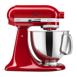 KitchenAid - KitchenAid RRK150ER Empire Red 5-quart Artisan Tilt-Head Stand Mixer (Refurbishe - Ten speeds and a unique mixing action make this mixer from KitchenAid a welcome addition to any kitchen. This 5-quart mixer includes a power hub for additional attachments.
