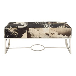 Classy Stainless Steel Leather Bench - Description: