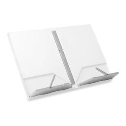Joseph Joseph - Joseph Joseph Cookbook Book Stand in White - The problem with most bookstands is their bulky size and awkward shape, which takes up valuable space when not in use.