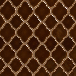 Vibe Morrocan Mosiac Field in Boogie Brown - Ceramic and Terracotta