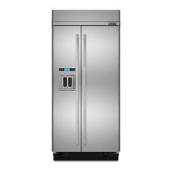 """Jenn-Air 48"""" Built-in Side By Side Refrigerator, Stainless Steel 