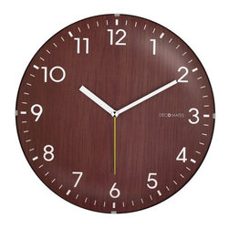 DecoMates Non-Ticking Silent Wall Clock, Dome Wooden, Brown - This one is giving me flashbacks of pop quizzes and passing notes in class.