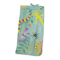 Little Lizards Diaper Stacker - Baby boys and girls will adore this Diaper Stacker made with designer print crawling with snales, lizard, dragonfiles and frogs. This item is completely made of cotton.