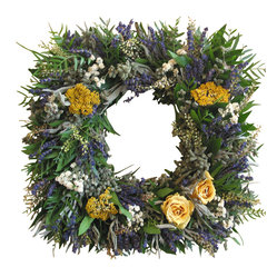 Square Lavender Rose Wreath