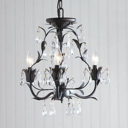 Mini Dripping Crystal Chandelier - 3 Light -