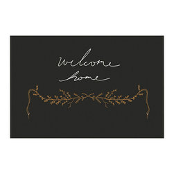 Belles & Ghosts - Welcome Home Illustrated Fine Art Print Black Home Decor - Welcome Home
