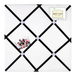Sweet Jojo Designs - Princess Black, White and Purple Fabric Memo Board by Sweet Jojo Designs - The Princess Black, White and Purple Fabric Memo Board by Sweet Jojo Designs, along with the  bedding accessories.