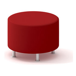 Turnstone - Steelcase - Alight Ottoman Round Red - Take a breather.