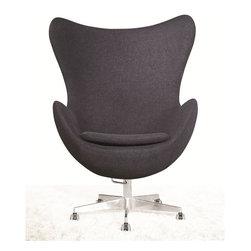 Inner Office Chair, Grey Fabric -