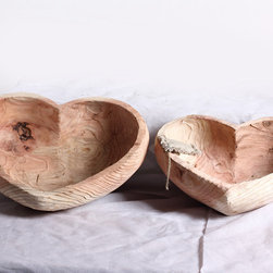 Heart-shaped decoration - The gentle feel of wood texture that overflows pastoral style.