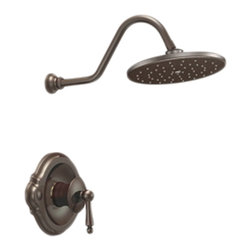 "Moen - Moen TS312ORB Oil Rubbed Bronze Posi-Temp Shower Valve Trim 1-Function Cartridge - Moen TS312ORB is part of the Waterhill bath collection. Moen TS312ORB is a new bathroom decor style by Moen. Moen TS312ORB has an Oil Rubbed Bronze finish. Moen TS312ORB Posi-Temp Shower valve only trim fits the MPact Posi-Temp S932 1/2"" Valve. Valve sold separately. Moen TS312ORB is part of the Waterhill bath collection. The Waterhill collection carries an intricate charm that will instantly add character complementing a nostalgic decor and enriching your homes necessary space. Moen TS312ORB Shower valve trim includes single-function pressure balancing Cartridge. Back to back capability. Moen TS312ORB is a single handle shower valve trim only, the handle adjusts temperature. Moen TS312ORB shower valve only single handle trim provides for ease of operation. Moen TS312ORB Posi-Temp pressure balancing valve maintains water pressure and controls temperature. Moen TS312ORB includes Moen's 10? Immersion Rainshower shower head, 2.5 GPM max. Moen TS312ORB is ADA approved. Oil Rubbed Bronze is an exclusive finish from Moen and provides style and durability. Moen TS312ORB metal lever handle meets all requirements ofADA CSA B125, ASME A112.18.1M, ANSI A117.1 ASSE 1016. Lifetime Limited Warranty."