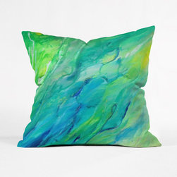 Under the Sea Pillow Cover - There might be no more beautiful place than under the water. This pillow cover captures the majestic ocean colors in an abstract way.