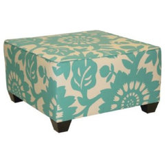 eclectic ottomans and cubes by Target