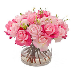 Real Touch Rose Faux Floral Arrangements & Centerpieces for Home Decor - FREE SHIPPING!