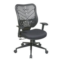 Office Star - Office Star SPACE EPICC SpaceFlex Back Executive Chair in Raven - Office Star - Office Chairs - 8833BB918P - The SPACE seating collection combines contemporary design with ergonomic engineering to enhance the decor and comfort of any office setting. Built to Office Star Products exacting contract furniture standards this highly innovative eye-catching collection is backed by Office Stars industry leading limited lifetime warranty. And within the vast confines of SPACE you'll find more than 100 models to choose from.