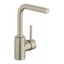 "Grohe - Grohe 32137EN0 Brushed Nickel Essence Essence Single Hole Bathroom - Product Features:  Faucet body constructed of solid brass Covered under Grohe s limited lifetime warranty Grohe faucets are exclusively engineered in Germany Finishes will resist corrosion and tarnishing through everyday use - finish covered under lifetime warranty Stainless steel braided flexible supplies Single handle operation ADA compliant - complies with the standards set froth by the Americans with Disabilities Act for bathroom faucets Low lead compliant - meeting federal and stat regulations for lead content WaterSense Certified product - using at least 30% less water than standard 2.2 GPM faucets, while still meeting strict performance guidelines Designed for use with standard U.S. plumbing connections  Product Technologies / Benefits:  Starlight Finish: Continuously improving over the last 70 years Grohe's unique plating process has been refined to produce and immaculate shiny surface that is recognized as one of the best surface finishes the world over. Grohe plates sub layers of copper and/or nickel to ensure that a completely non-porous, immaculate surface awaits the chrome layer. This deep, even layered chrome surface creates a luminous and mirror like sheen. SilkMove Cartridge: The rich and smooth handling of our single lever faucets conveys pure quality. As you change the temperature from hot to cold, one ceramic disc glides effortlessly across the other with absolute precision. These cartridges are manufactured in a high-tech process and feature discs made from a space-proven ceramic alloy. The SilkMove cartridge is yet another example of design and technology fusing to bring you an enhanced water experience.  Product Specifications:  Overall Height: 9-15/16"" (measured from counter top to"