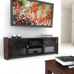 """dCOR design - Milan 67.75"""" TV Stand - Features: -Tempered glass sliding doors.-TV Size Accommodated: Accomodates up to 70"""" TV.-Finish: Deep espresso.-Powder Coated Finish: No.-Gloss Finish: No.-Material: Engineered wood & tempered glass.-Number of Items Included: 1.-Solid Wood Construction: No.-Distressed: No.-Exterior Shelves: Yes -Number of Exterior Shelves: 2.-Adjustable Exterior Shelves: Yes..-Drawers: No.-Cabinets: Yes -Number of Cabinets: 2.-Number of Doors: 2.-Number of Interior Shelves: 4..-Scratch Resistant: No.-Casters: No.-Accommodates Fireplace: No.-Fireplace Included: No.-Lighted: No.-Media Storage: Yes.-Cable Management: Yes.-Remote Control Included: No.-Batteries Required: No.-Weight Capacity: 200 lbs maximim TV weight.-Swatch Available: Yes.-Commercial Use: No.-Collection: Milan.-Recycled Content: No.-Lift Mechanism: No.-Expandable: No.-TV Swivel Base: No.-Integrated Flat Screen Mount: No.-Hardware Material: Metal.-Non-Toxic: No.-Country of Manufacture: Canada.Specifications: -ISTA 3A Certified: No.-CARB 2 Certified: Yes.-CARB Certified: Yes.-FSC Certified: No.-General Conformity Certified: No.-CSA Certified: No.-EPP Certified: No.Dimensions: -Overall Height - Top to Bottom: 21"""".-Overall Width - Side to Side: 67.75"""".-Overall Depth - Front to Back: 18.5"""".-Shelving: -Shelf Height - Top to Bottom (Top ) : 7"""".-Shelf Height - Top to Bottom (Bottom ) : 9.75"""".-Shelf Width - Side to Side: 19"""".-Shelf Depth - Front to Back: 16.5""""..-Overall Product Weight: 130 lbs.Assembly: -Assembly Required: Yes.-Tools Needed: Screwdriver.-Additional Parts Required: No.Warranty: -Product Warranty: 1 year warranty."""