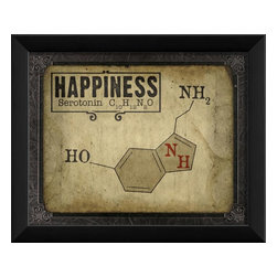 The Artwork Factory - Happiness Molecule Framed Artwork - Ready-to-Hang, 100% Made in the USA, museum quality framed artwork