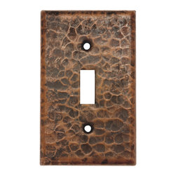 Premier Copper Products - Copper Switchplate Single Toggle Switch Cover - Copper Switchplate Single Toggle Switch Cover