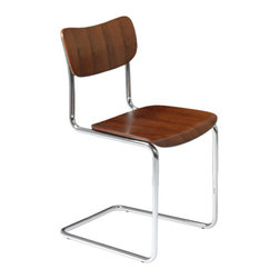 Apt2B - Mt. Washington Dining Chair, Walnut - Have a seat on our Mt. Washington Chair. We can see this guy around a dining table, at a desk, or as an accent chair in the living room. Walnut is where it's at.