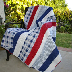 Greenland Home Fashions - Greenland Home Fashions Nautical Stripe Throw Blanket - GL-THROWNT - Shop for Throws from Hayneedle.com! Red white and blue stripes plus plaid give the Greenland Home Fashions Nautical Stripe Throw Blanket its patriotic style. A timeless way to stay cozy this quilted throw blanket has its nautical theme with channel stitching for texture and durability. The reverse is a coordinating plaid which means you get two looks in one! This throw blanket is machine-quilted of 100% cotton for durability and comfort. Easy to clean too simply machine-wash in cold and tumble-dry on low.About Greenland Home FashionsFor the past 16 years Greenland Home Fashions has been perfecting its own approach to textile fashions. Through constant developments and updates - in traditional country and more modern styles the company has become a leading supplier and designer of decorative bedding to retailers nationwide. If you're looking for high-quality bedding that not only looks great but is crafted to last consider Greenland.