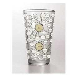 16oz Beer Pint Glass - The Very Many Varieties of Beer Pint Glass.