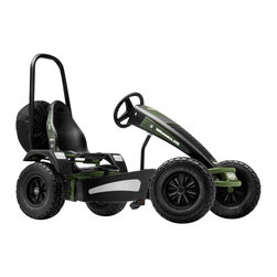 BERG - Jeep Wrangler Pedal Kart BF-3 - Fun exudes from the front of the wheels to the back of the spare tire.  This child's ride-on kart is a really robust looking pedal kart that is perfect for ages 5 to 85.