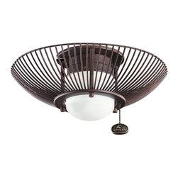 Kichler Lighting - Kichler Lighting 380114TZ Wire Frame Ceiling Fan Light Kit - Kichler Lighting 380114TZ Wire Frame Ceiling Fan Light Kit