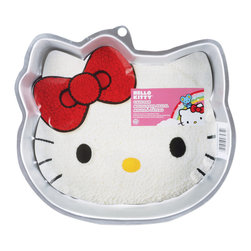 Wilton - 'Hello Kitty' Novelty Cake Pan - Celebrate birthdays and special occasions with a fun shaped cake! Wilton is the leader in cake decorating tools and their bakeware is the choice of serious bakers. Any two layer cake mix will work with these rust-resistant aluminum pans.