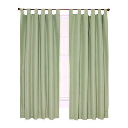 Ellis Curtain - Crosby Sage Thermal Insulated 80-by-54 inch Tab Top Foamback Curtains - -Ellis Curtain Crosby Thermal Insulated Tab Top Foamback Pair of Drape Panels?Save Energy and sleep better at an economical price! We?ve designed the Crosby thermal insulated curtain program with quality of life in mind. The Crosby Tab Top curtains go way beyond just looking great, they function great too. These amazing curtains come in a choice of five of the most popular decorating colors that are designed to fit within your home d�cor. Constructed with a heavyweight 100-percent polyester face ensures a curtain that has a soft texture and smooth draping effect. A 100-percent acrylic backing provides improved light blocking and insulating qualities that significantly save energy and money year round. During the winter months thermal insulated curtains hold drafts and help keep out the cold while holding in the heat. During the summer months they block the suns rays and keep the heat out while holding the air conditioning in keeping you cooler. The 3.5 inch tab tops look great with a decorative curtain rod and are sold in pairs (2 Panels) Width is measured overall 80-inches per pair of panels (both 40 panels together) Length is measured overall 54-inches from tab top to bottom of panel. A stitched bottom hem is added for strength and to provide a clean crisp edge. Add a Crosby matching valance for a unique finished look or to fit wider windows. For added convenience they are machine washable. Coordinating Crosby Tab Top Valance and Crosby Pinch Pleated Thermal Insulated Curtains also available thru Bellacor. Ellis Curtain - 730462701855
