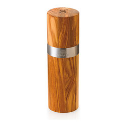 Berard - Berard Olive Wood Acero Collection Server Salt Mill w/Stainless Steel Band - 6.3 - This classic salt mill is timeless for the table and everyday use. The All Grind Ceramic Technology has a smooth grind that will lasts for years.