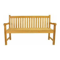 Anderson Teak - Classic 4-Seater Bench - This is simple traditional styling that has not ever and will not ever go out of style, but quietly blends with any d_cor. We have made subtle but careful design changes to ensure excellent back support. Place a single bench under your trees; use a group of benches and chairs for entertaining. The durable teak construction of this heavyweight bench will allow it to withstand constant usage, making it ideal for parks, shopping centers, or any other heavily frequented area. This furniture bench features a comfortable contoured seat that offer a convenient surface. Quality built for generations. Classic 3-Seater Bench is shown on the images. Cushion is optional and is being made by order.