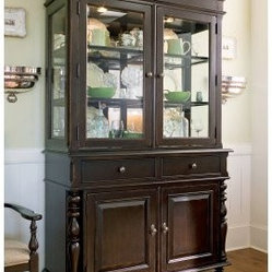 Paula Deen Down Home China Cabinet - Tobacco