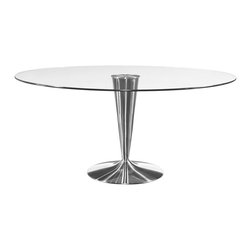 Bassett Mirror - Concorde Round Cocktail Table - Table top: 36 in. Dia.. Base: 36 in Dia. x 16 in. H