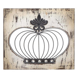 Benzara - Classy Wood Metal Wall Panel with Intricate Design - Lend a touch of royalty and its feel right to your house with this wood/metal wall decor item in crown shape. Flaunting a metallic finish, this wall decor is versatile in use, and can complement all kinds of decor. This decorative piece is crafted with skilled workmanship, and includes intricate detailing, making it more appealing. Moreover, it can also be used as a gift item for anniversaries and token of love. Crafted of wood and metal, this one promises to last you long while keeping your wall decor stylish and trendy. It is made from material to ensure that it is long lasting and durable for years to come. Bring this wood metal wall panel, and let your guests praise your choice for home decoration..