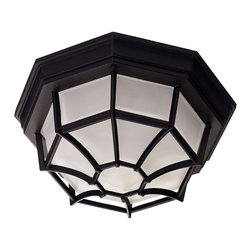 "Savoy House Lighting - Savoy House Lighting 07066-BLK 11"" Frosted Glass Outdoor Flush Mount Light - Decorate your favorite outdoor spaces to bring a sense of style Al Fresco!"