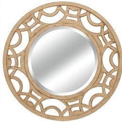 Lofty - Ardant Antique White Mirror - Lofty Ardant PU014Y2 Antique White Round Framed Mirror