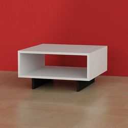 Hola Coffee Table White - Black - Decortie