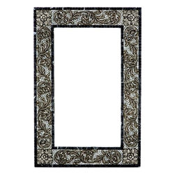 Landmark Metalcoat - Landmark Metalcoat Mosaic Mirror Frame Bellagio Scroll, Brass Highlight Polish - All Landmark Metalcoat products are made to order. lead time 3 -5 weeks. Proudly made in the USA.