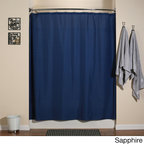 None - Aulaea Shower Curtain Liners Buttonhole Opening - This Aulaea shower curtain liner is compatible with Aulaea shower curtains or any standard shower curtain with conventional rings. The 100-percent polyester liner is luxurious and durable,with double-stitched button-holes.