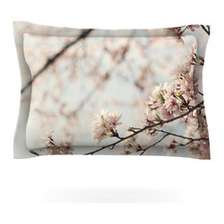 "Kess InHouse - Catherine McDonald ""Japanese Cherry Blossom"" Pillow Sham (Cotton, 30"" x 20"") - Pairing your already chic duvet cover with playful pillow shams is the perfect way to tie your bedroom together. There are endless possibilities to feed your artistic palette with these imaginative pillow shams. It will looks so elegant you won't want ruin the masterpiece you have created when you go to bed. Not only are these pillow shams nice to look at they are also made from a high quality cotton blend. They are so soft that they will elevate your sleep up to level that is beyond Cloud 9. We always print our goods with the highest quality printing process in order to maintain the integrity of the art that you are adeptly displaying. This means that you won't have to worry about your art fading or your sham loosing it's freshness."