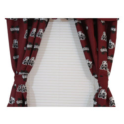College Covers - NCAA Mississippi State Drapes Collegiate Window Curtains - Features: