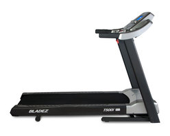 Bladez Fitness - Bladez Fitness T500i Treadmill - The T500i i.Concept equipped treadmill is a spacious machine loaded with features. i.Concept allows the user to download compatible apps to their phone or tablet for interactive personal training and entertainment. A wide variety of other features like handrail controls for adjustments while working out, on board speakers and MP3 port, as well as a USB port allowing you to charge your device with your USB cable, the T500i is the perfect integration of technology, convenience and performance.