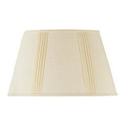 Cal Lighting - 12 in. x 18 in. Side Pleated Linen Shade - Side pleated linen shade. Top: 12 in.. Bottom: 18 in.. Side: 11 in.